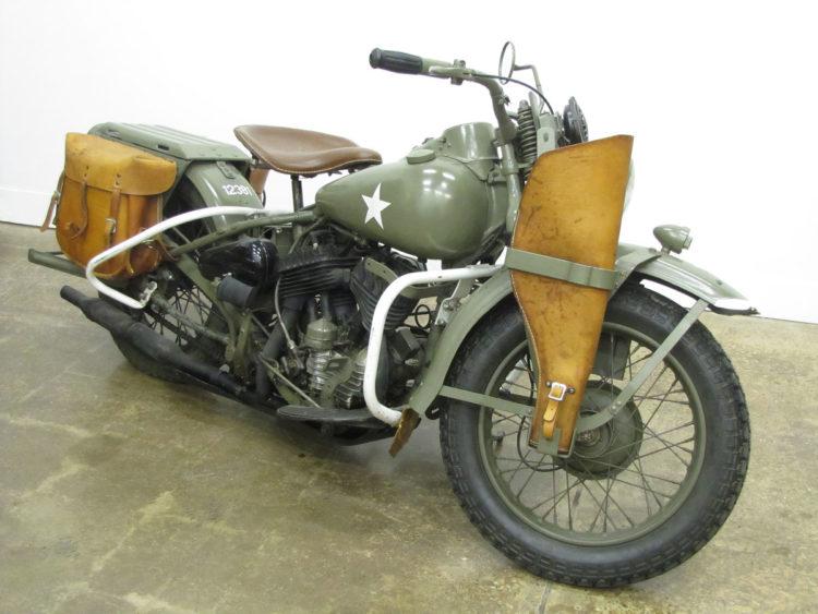 1942 HD WLA 2 Los cinco mejores modelos de Harley Davidson de los años 40