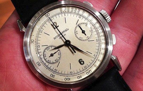 1946 Patek Philippe Rare Platinum Chronograph Ref 1579 1946 Patek Philippe Rare Platinum Chronograph Ref 1579