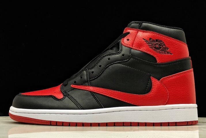 2019 Travis Scott x Air Jordan 1 High OG Banned Black Varsity Red White Los 5 lanzamientos de zapatillas más esperados de 2019