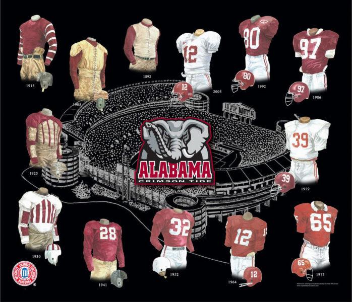 Alabama 1 La historia y la evolución del logotipo de fútbol de Alabama