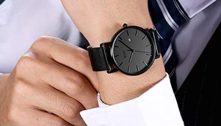 Reloj de pulsera minimalista de moda para hombre BUREI