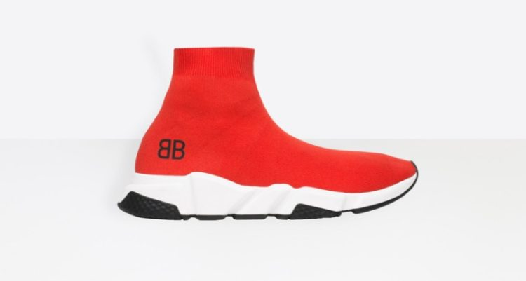 Zapatillas Balenciaga Tone on Tone Speed (rojo)