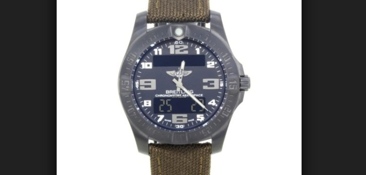 Breitling Aerospace Anthracite Titanium Quartz Reloj para hombre