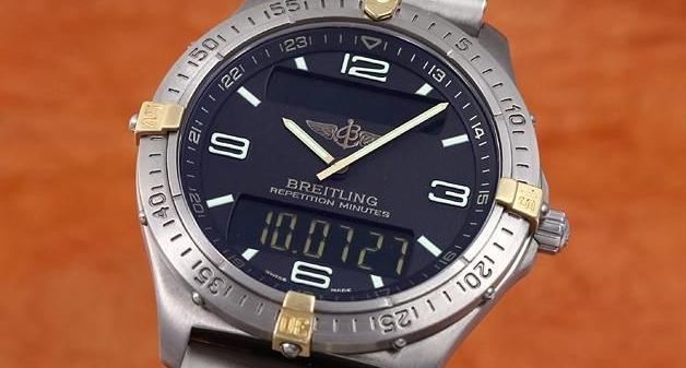 Cuarzo de titanio aeroespacial de Breitling