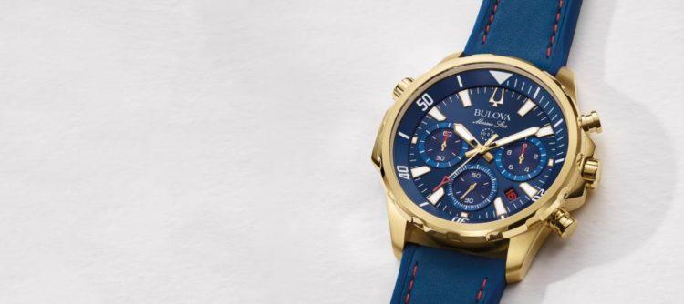 Reloj Bulova para hombre con correa azul