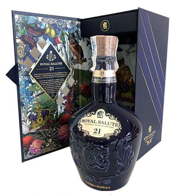 Chivas Royal Salute LXX Black Decanter 21 anos .Las 10 botellas de Chivas Regal más caras 2021
