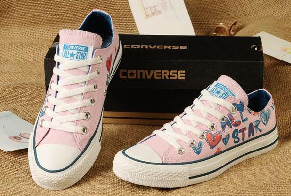 Converse Lady GaGa Chuck Taylor All Star Low Top Pink Canvas Sneakers 01 Los cinco mejores modelos de Converse rosas del mercado