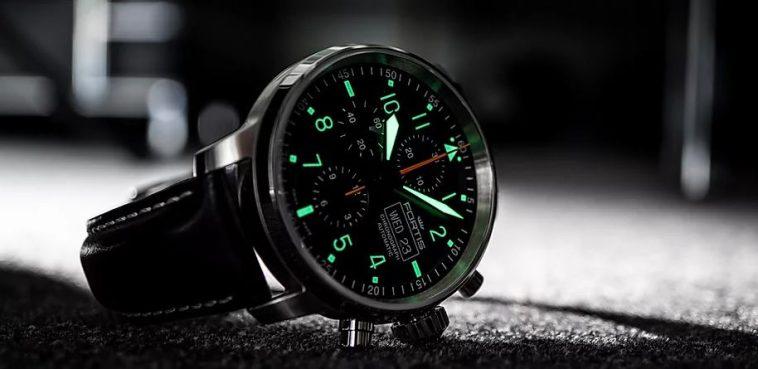Flieger Cockpit one 1 Aviatis watch day date Automatic 704.21.18 L.01 Los 10 mejores relojes Fortis de todos los tiempos