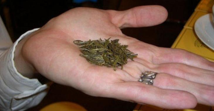 Cabezas de té dorado
