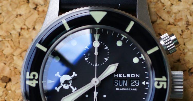 HELSON Blackbeard CHRONO front Los cinco mejores relojes Helson del mercado actual
