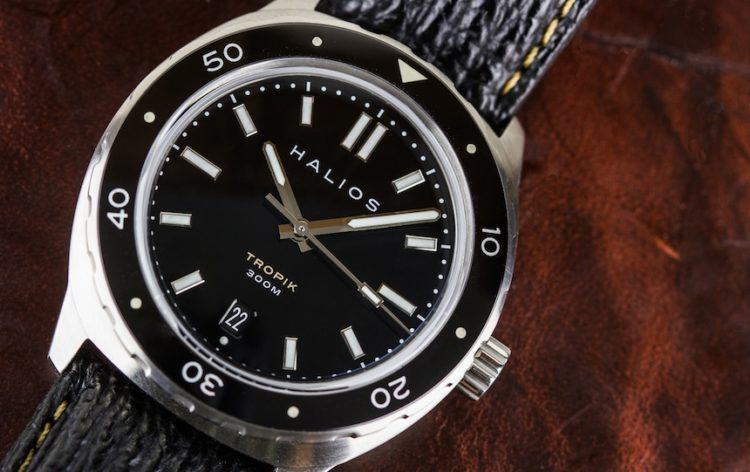 Halios Tropik black front Los cinco mejores relojes Halios del mercado actual
