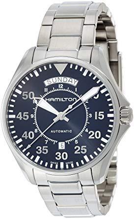 Hamilton Reloj de vestir automático suizo de acero inoxidable `` Khaki Aviation '' para hombre