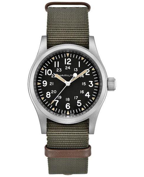 Hamilton Reloj unisex suizo de color caqui verde con correa de la OTAN