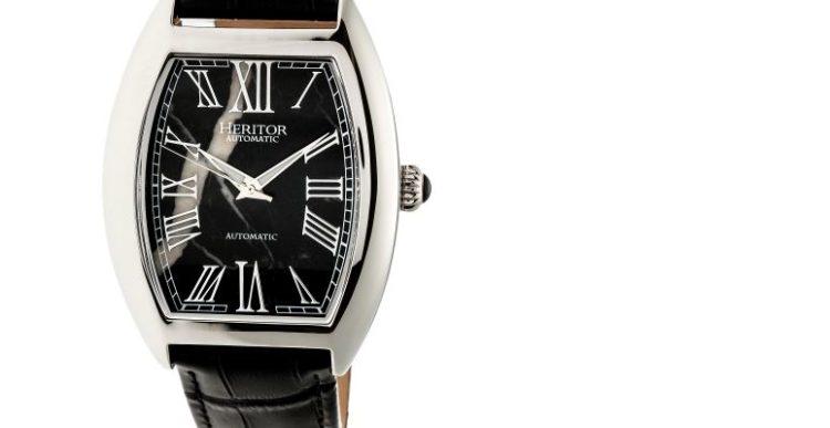 Reloj para hombre Heritor Baron Black Marble
