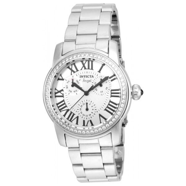 Invicta Womens Angel Crystal Accented Bezel Silver Dial Watch Los 7 mejores relojes para mujeres por menos de $ 500