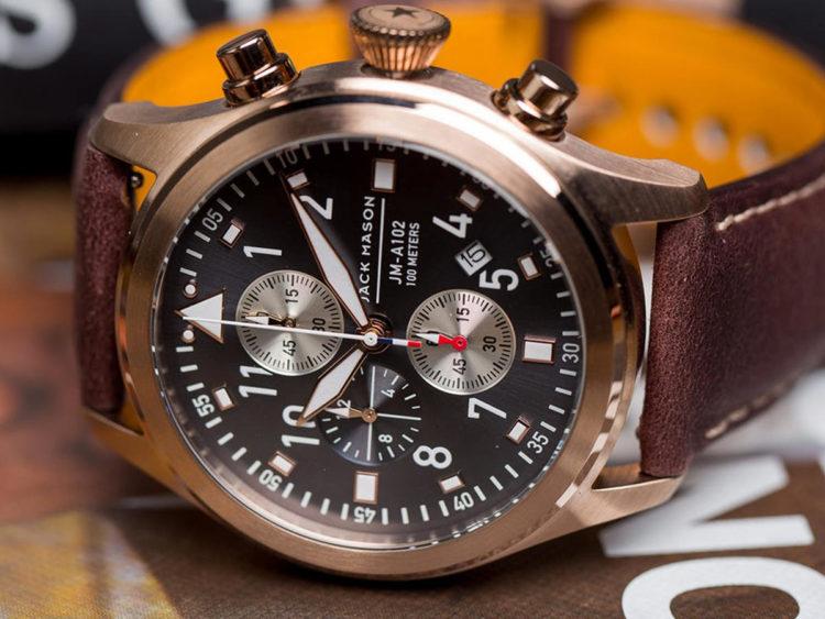 Jack Mason Aviator Chronograph 07 Los 10 mejores relojes de piloto por menos de $ 500