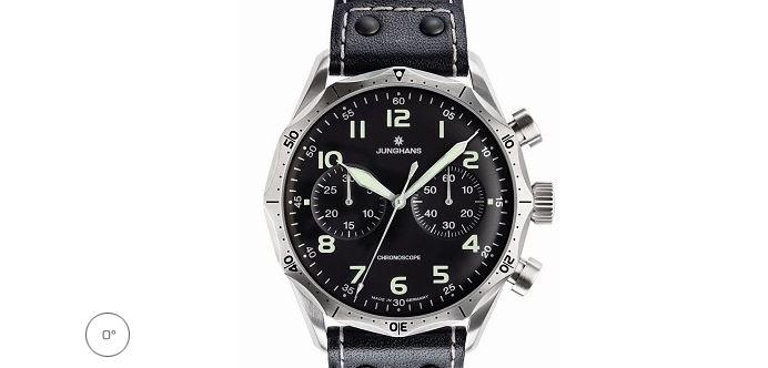 Junghans Meister Pilot Chronscope Watch Black Dial Numerals 0273590.00 Los 10 mejores relojes Junghans que el dinero puede comprar
