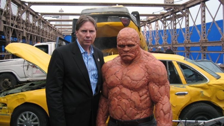 Peter Weedfald Michael Chiklis The Thing on the set of The Fantastic... e1537870322568 Donde nada se queda atrás