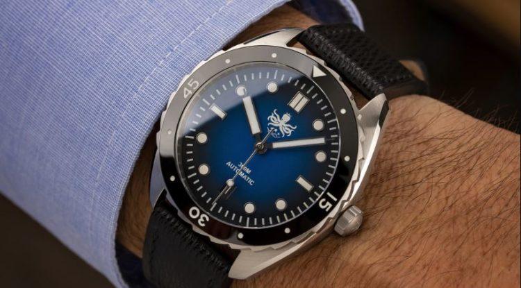 Phoibos Eagle Ray Bronze PY018E 500M Reloj automático de buceo Blue Meteorite Edición limitada