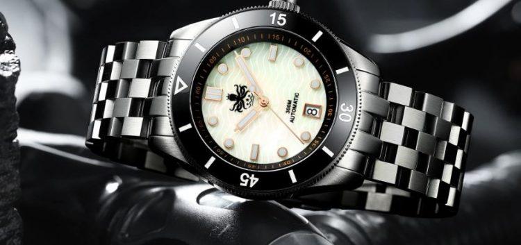Phoibos Great Wall 500M Reloj automático de buceo PY022C Negro Edición limitada
