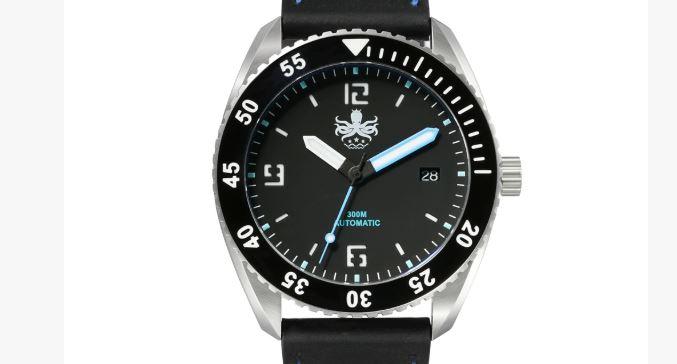 Phoibos Reef Master PY015B DLC 300M Reloj automático de buceo