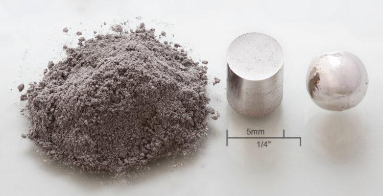 Rhodium powder pressed melted e1556395224599 Los 10 metales más caros del mundo