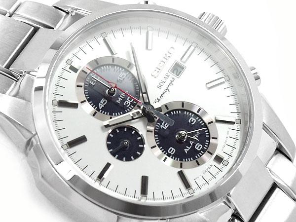 Reloj solar de acero inoxidable para hombre Seiko