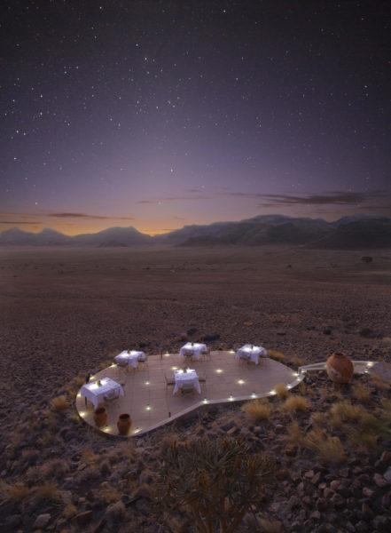 Comidas al aire libre en Sossusvlei Desert Lodge - Destino de safari