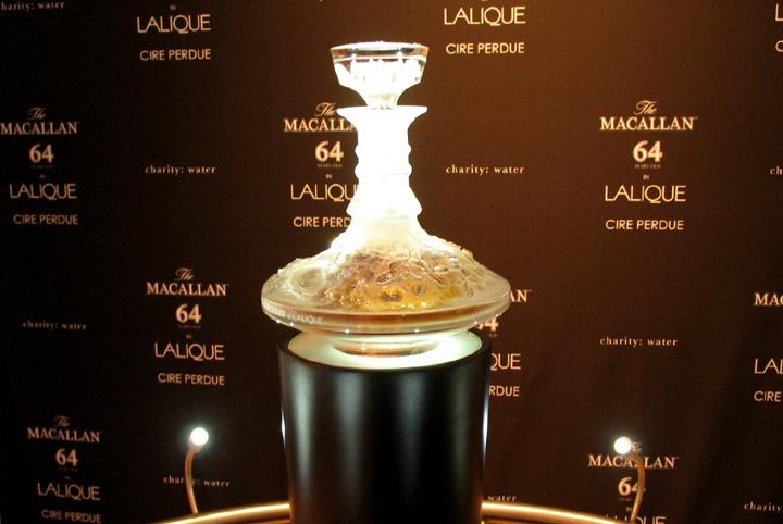 The Macallan 64 Years Old in Lalique Cire Perdue 1946 10 de los whiskies más caros del mundo