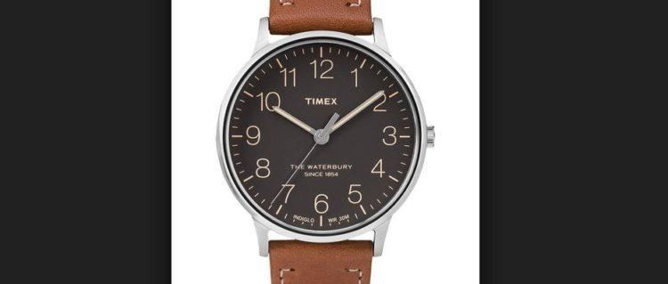 Reloj clásico de cuero genuino para hombre Timex