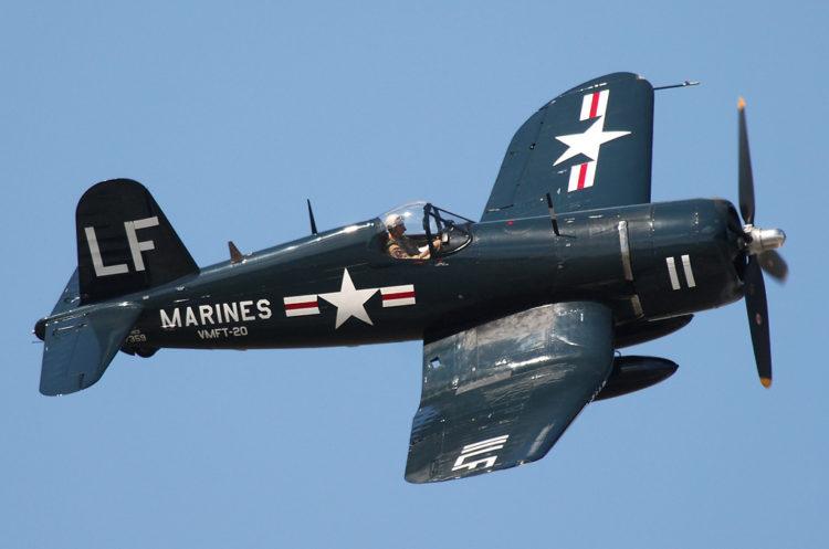 Vought F4U Corsair USMC Los 10 aviones de la Segunda Guerra Mundial más reconocidos de la historia