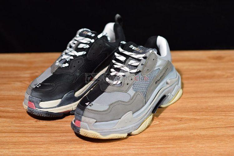 zapatillas balenciaga triple s bicolor negro gris