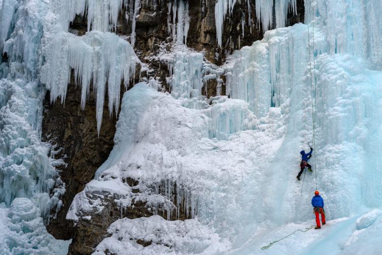 Escalada en cascada en hielo